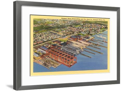 Newport News Shipyard--Framed Art Print