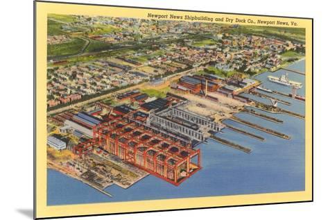 Newport News Shipyard--Mounted Art Print