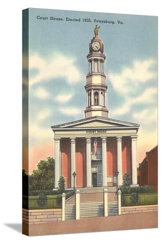 Petersburg Courthouse--Stretched Canvas Print