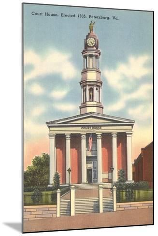 Petersburg Courthouse--Mounted Art Print