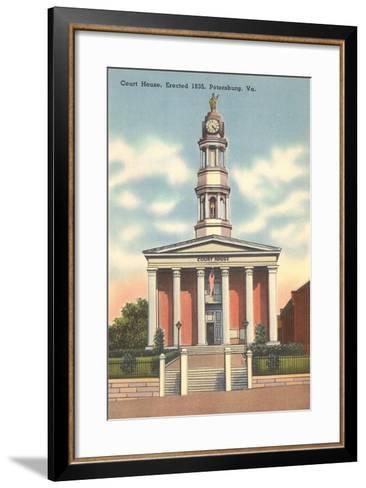 Petersburg Courthouse--Framed Art Print