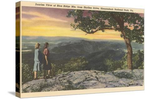 Sunrise from Skyline Drive--Stretched Canvas Print