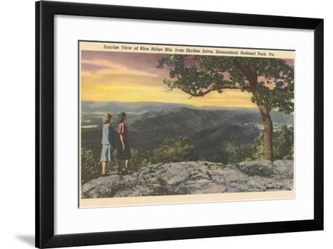 Sunrise from Skyline Drive--Framed Art Print