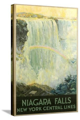 Niagara Falls Travel Poster--Stretched Canvas Print