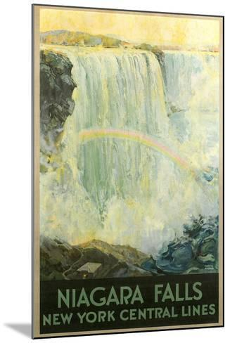 Niagara Falls Travel Poster--Mounted Art Print