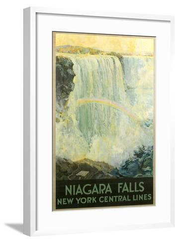 Niagara Falls Travel Poster--Framed Art Print