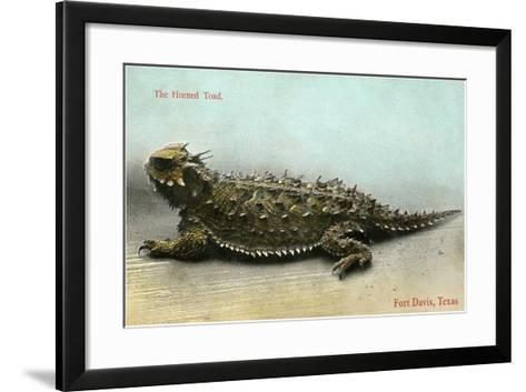 Horned Toad, Fort Davis--Framed Art Print
