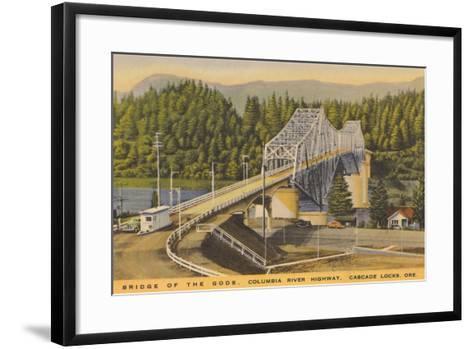 Bridge of the Gods, Cascade Locks--Framed Art Print