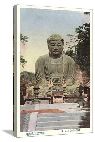 Japanese Buddha--Stretched Canvas Print
