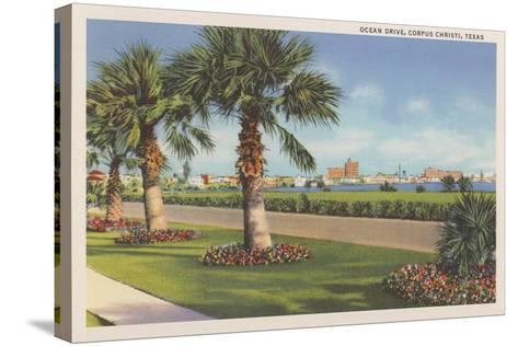 Ocean Drive, Corpus Christi--Stretched Canvas Print