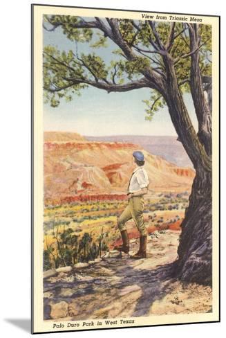 Palo Duro, Triassic Mesa--Mounted Art Print