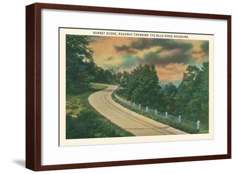Sunset, Blue Ridge Mountains--Framed Art Print