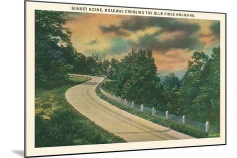 Sunset, Blue Ridge Mountains--Mounted Art Print