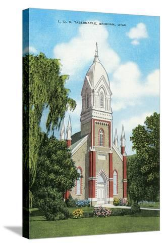 Lds Tabernacle, Brigham--Stretched Canvas Print