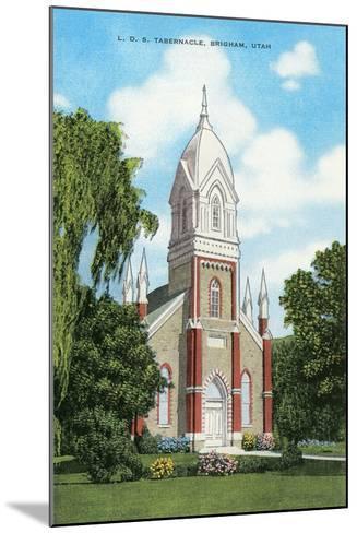 Lds Tabernacle, Brigham--Mounted Art Print