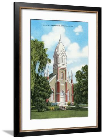 Lds Tabernacle, Brigham--Framed Art Print