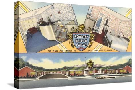 Romney Motor Lodge, Salt Lake City--Stretched Canvas Print