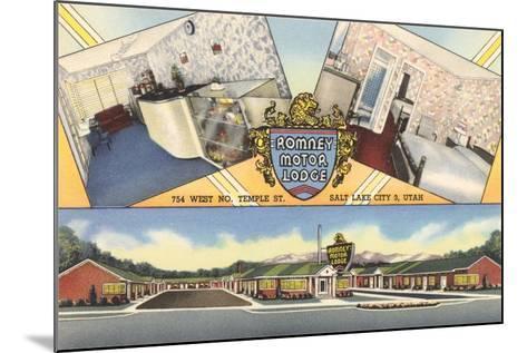 Romney Motor Lodge, Salt Lake City--Mounted Art Print