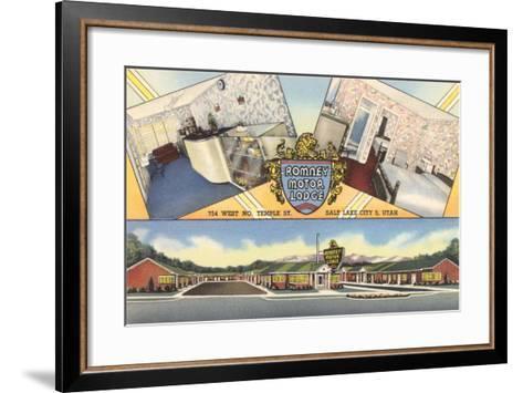 Romney Motor Lodge, Salt Lake City--Framed Art Print