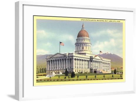 State Capitol, Salt Lake City--Framed Art Print
