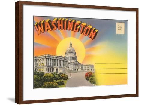 The Capitol Washington, DC--Framed Art Print