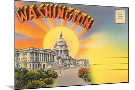 The Capitol Washington, DC--Mounted Art Print