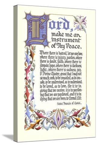 St. Francis Prayer--Stretched Canvas Print