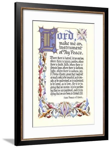 St. Francis Prayer--Framed Art Print