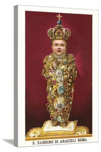 Statue of Saint Bambino--Stretched Canvas Print