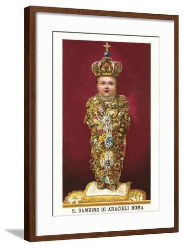 Statue of Saint Bambino--Framed Art Print