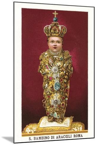 Statue of Saint Bambino--Mounted Art Print