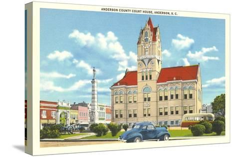 Anderson County Courthouse--Stretched Canvas Print
