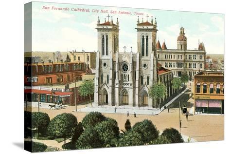 San Fernando Cathedral, San Antonio--Stretched Canvas Print