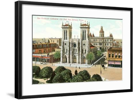 San Fernando Cathedral, San Antonio--Framed Art Print