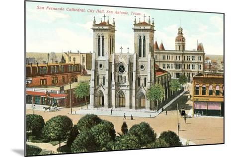 San Fernando Cathedral, San Antonio--Mounted Art Print