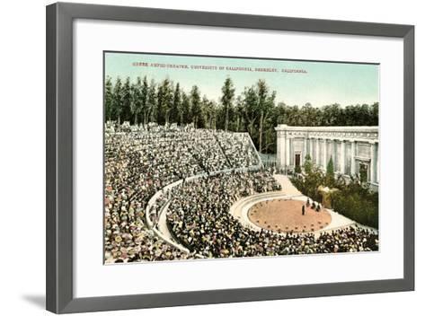Greek Amphitheatre, Berkeley--Framed Art Print