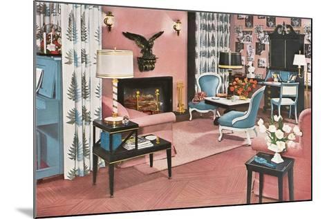 Living Room in Pink--Mounted Art Print