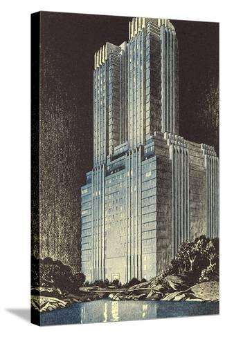 Modern Skyscraper--Stretched Canvas Print