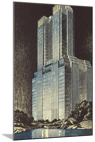 Modern Skyscraper--Mounted Art Print