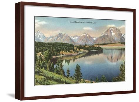 Teton Range, Jackson Lake--Framed Art Print