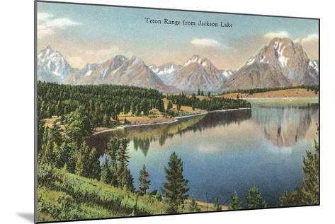 Teton Range, Jackson Lake--Mounted Art Print