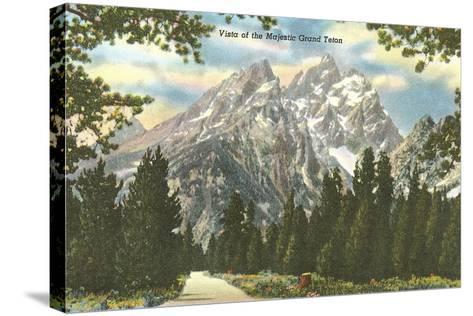 Vista of Majestic Grant Teton--Stretched Canvas Print