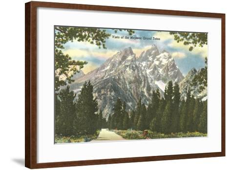Vista of Majestic Grant Teton--Framed Art Print