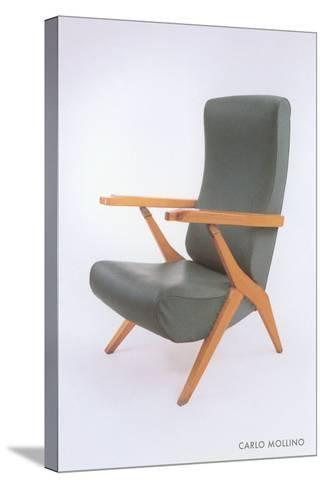 Carlo Mollino Chair--Stretched Canvas Print
