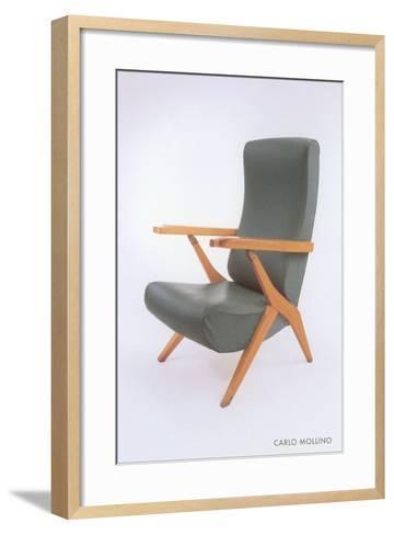 Carlo Mollino Chair--Framed Art Print