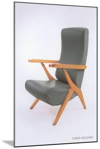 Carlo Mollino Chair--Mounted Art Print