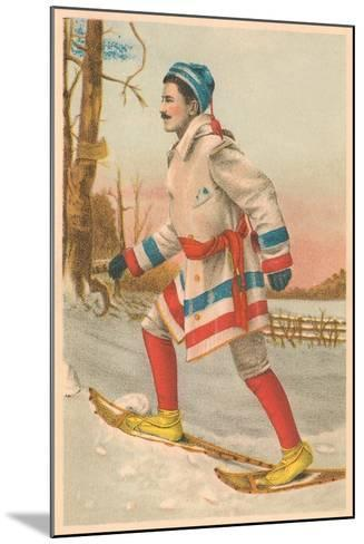 Old Time Snow Shoer--Mounted Art Print