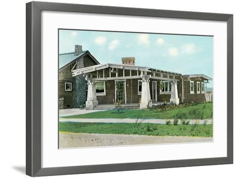 Craftsman House with Pillars--Framed Art Print