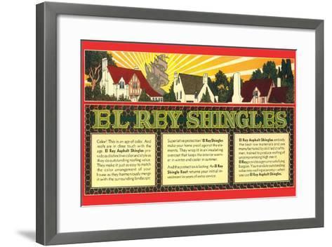 El Rey Shingles Ad--Framed Art Print