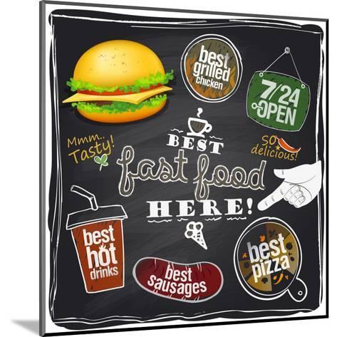 Best Fast Food Here-Selenka-Mounted Art Print